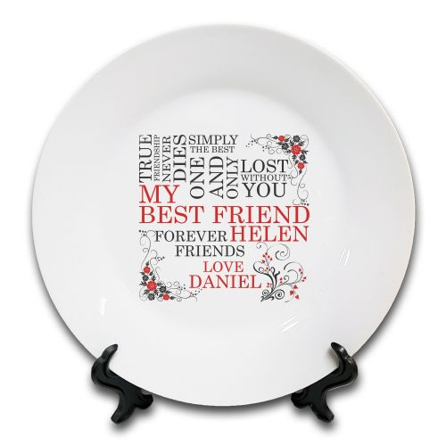 Personalised My Best Friend... Novelty Ceramic Plate